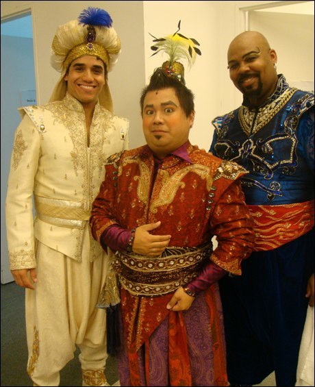 Adam Jacobs, Don Darryl Rivera, and James Monroe Iglehart (Seattle)