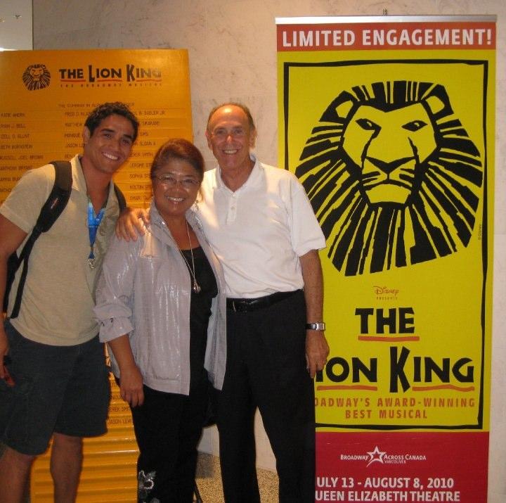 Adam with his Parents
