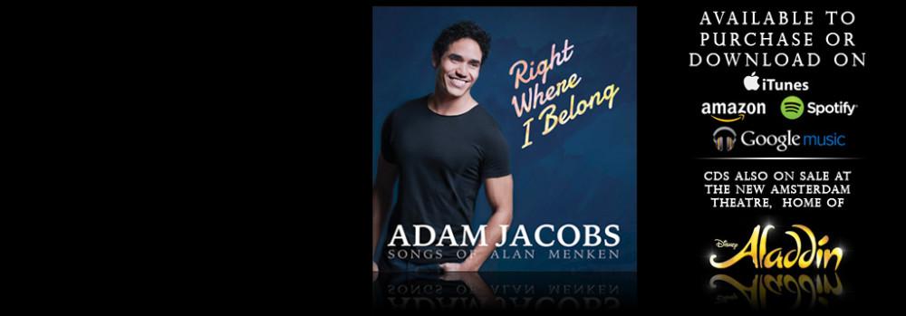 Adam Jacobs Right Where I Belong - the Songs of Alan Menken