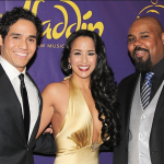 Adam Jacobs, Courtney Reed and James Monroe Iglehart